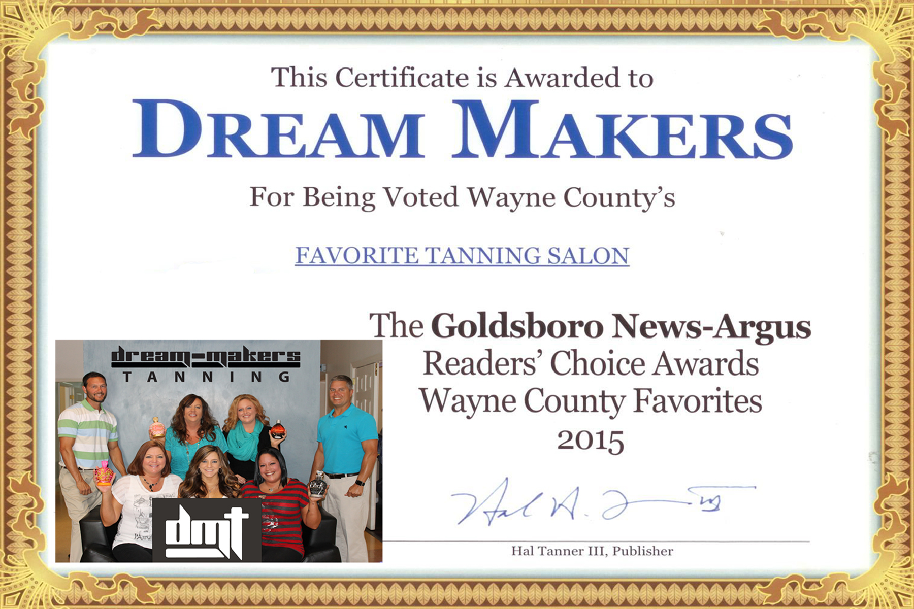 Voted Wayne County's Favorite Tanning Salon